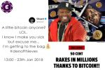 {:en}50 Cent becomes accidental Bitcoin millionaire{:}{:tr}50 Cent yanlışlıkla Bitcoin milyoneri oldu{:}